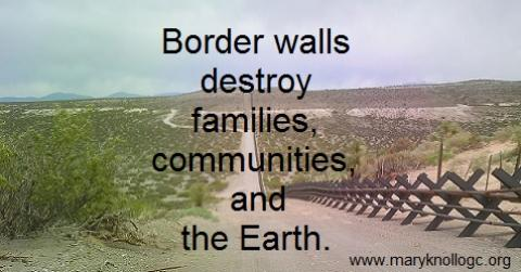 Border wall message