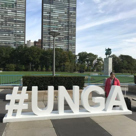Marvie Misolas MM at UN General Assembly in New York 2018